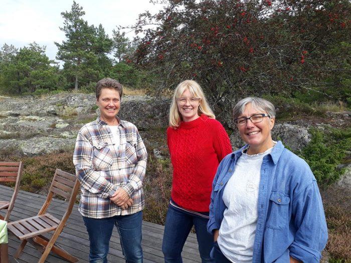 Textpiloternas styrelse består av Cilla Dalén, Annelie Drewsen och Katarina Lycken Rüter.