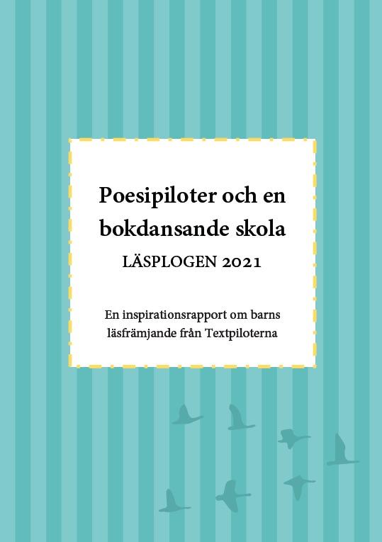 Framsidan till rapporten om Läsplogen 2021.